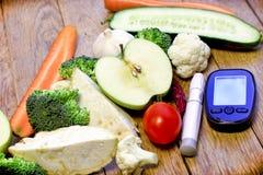 Het gezonde eten aan gezondheid zonder diabetes, concept gezonde voeding royalty-vrije stock afbeeldingen