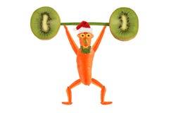 Het gezonde eten grappig fokt weinig mens bar gelukkig nieuwjaar stock illustratie afbeelding - Idee decoratie voorgerecht ...