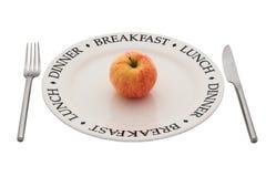 Het gezonde eten. Met het knippen van weg. Royalty-vrije Stock Afbeeldingen