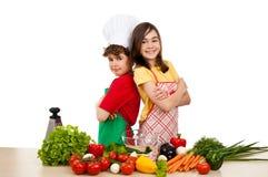 Het gezonde eten is O.K. stock afbeelding