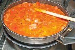 Het gezonde koken. Stock Foto