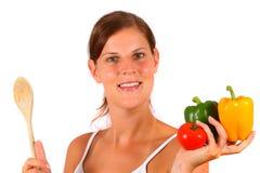 Het gezonde Koken stock fotografie