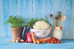 Het gezonde koken en op dieet zijn royalty-vrije stock afbeeldingen