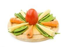 Het gezonde koken met verse groenten Stock Fotografie