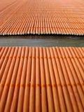 Het gezonde Leven: Bamboe Placemats Stock Foto's