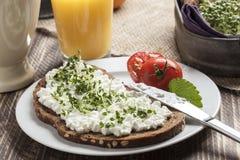 Het gezonde met laag vetgehalte ontbijt van de de lentezomer royalty-vrije stock afbeeldingen