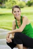 Het gezonde Portret van de Vrouw van de Geschiktheid royalty-vrije stock foto
