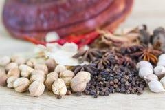 Het gezonde Thaise concept van voedselrecepten Royalty-vrije Stock Afbeeldingen