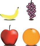 Het gezonde Verse Fruit van het Voedsel royalty-vrije illustratie