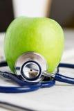 Het gezondheidsleven en gezond voedselconcept Stock Foto