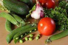 Het gezondste en smakelijke voedsel Groenten, vitaminen Stock Fotografie