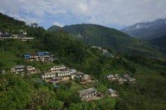 Het Ghandruk-dorp in Annapurna-Kring Royalty-vrije Stock Afbeelding