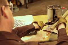 Het gieten leidt tot het maken van kogels Royalty-vrije Stock Foto