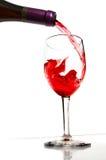 Het gieten van de wijn Royalty-vrije Stock Afbeeldingen