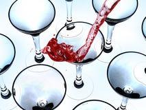 Het gieten van een drank stock illustratie
