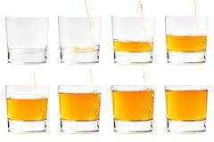 Het gieten van een drank Stock Fotografie
