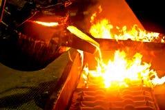 Het gieten van het metaal proces Stock Afbeeldingen