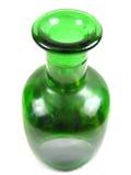 Het gietende goud van de fles (voorzijde op mening) Stock Foto's