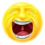 Het gillen Emoticon Emoji Royalty-vrije Stock Afbeelding