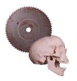Het gillen schedel Stock Foto