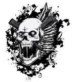 Het gillen schedel vector illustratie