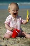 Het gillen van de baby Stock Afbeelding