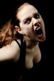 Het gillen van de vampier Stock Afbeelding