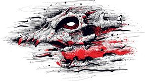 Het gillende Monster van het Demonspook royalty-vrije stock foto's