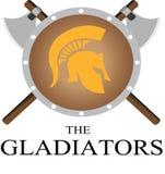 Het gladiatiorembleem Stock Afbeelding