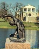 Het Gladiatorstandbeeld in Catherine Park in Tsarskoye Selo Royalty-vrije Stock Foto