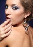 Het glanzen de make-up van het vrouwengezicht Stock Foto's
