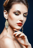 Het glanzen gezichtsmake-up Royalty-vrije Stock Foto