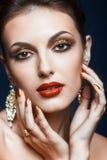 Het glanzen gezichtsmake-up Royalty-vrije Stock Foto's