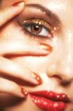 Het glanzen gezichtsmake-up Stock Fotografie