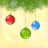 Het glanzen Kerstmis en Nieuwjaar vectorachtergrond Royalty-vrije Stock Foto's