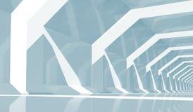 Het glanzen tunnel binnenlands perspectief, 3d illustratie vector illustratie