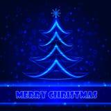 Het glanzen van de kerstboom Royalty-vrije Stock Afbeelding