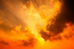 Het glanzen zonsondergang Royalty-vrije Stock Afbeelding
