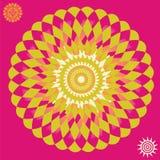 Het glanzende af:drukken van de zonoptische illusie Stock Afbeeldingen