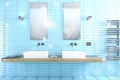 Het glanzende badkamers 3d teruggeven Stock Foto's