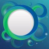 Het glanzende onderwatermalplaatje van het bellenontwerp stock illustratie
