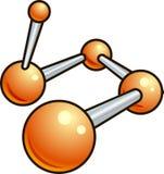 Het glanzende pictogram van de moleculeillustratie Stock Afbeelding