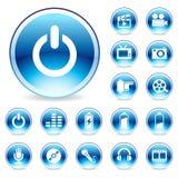 Het glanzende pictogram van het Web stock illustratie