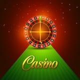 Het glanzende Wiel van de Casinoroulette Royalty-vrije Stock Foto