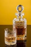 Het Glas & de Fles van de whisky Stock Afbeelding