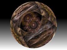 Het glas chrystal bal van de textuur Stock Foto's