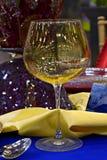 Het glas en de lijst van het banket Stock Afbeelding