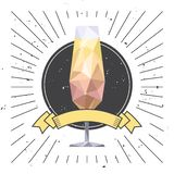Het glas en het lint van Champagne vector illustratie