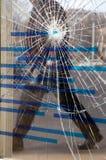 Het glas is gebarsten Stock Afbeelding