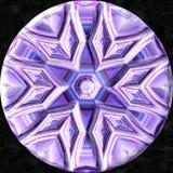 Het glas jewelled orb met sterrenpatroon stock illustratie